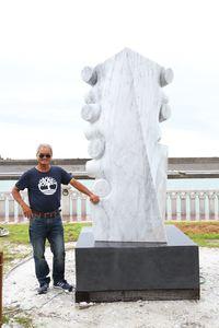 石雕家馮朝宗「相遇」獲民眾最喜愛作品